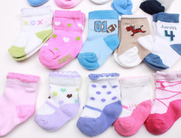 Wholesale 0 months baby socks children socks towel socks cotton terry socks Random delivery