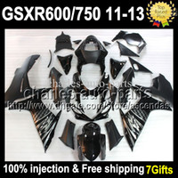 Injection Mold For SUZUKI Black GSX R600 R750 11 12 13 GSX- R...