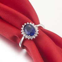 classic 14k gemstone ring - 2013 Natural sapphire Gemstones ct South Africa Natural gemstone ring K white Gold Women Wedding Rings wedding set