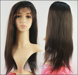 Wholesale 10 Brazilian human hair straight lace frontal wig color b