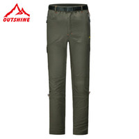 Wholesale Mens Summer Outdoor Pants Zip Off Leg Hiking Fish Golf Trousers Quick Dry