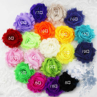 Wholesale 6cm Mini Shabby Chiffon Flower Trim Rosette Trim Yards Colors for Selection
