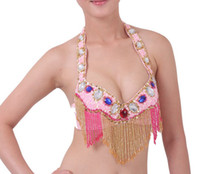 Belly Dancing belly dance bra wear - perfessional Belly Dance costume performance dancewear stage wear sequins colorful gems BRA top bra ty005