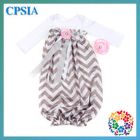 Wholesale 2013 Newest Chevron Sleeping Bags Sleep sack cotton Infant nightgowns with matching headband set sets