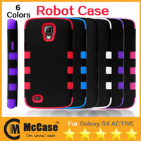 TPU+PC galaxy s4 active - Robot Hybrid Multiple Layers PC TPU Impact Rugged Shockproof Hard Soft Cover Casefor Galaxy S4 Active