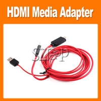 Wholesale Micro USB Adapter M MHL HDTV HDMI Cable for Samsung Galaxy S4 i9500 S3 SIII i9300 Note N7100 With Retail Box