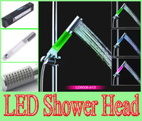 NEWEST 3 Colors Change LED Light Shower Head Temperature Sen...