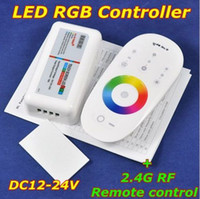 Wholesale DC12 V LED touch screen RGB controller with G RF remote control for rgb led strip bulb ceiling Retail Wholesales Hot Sale