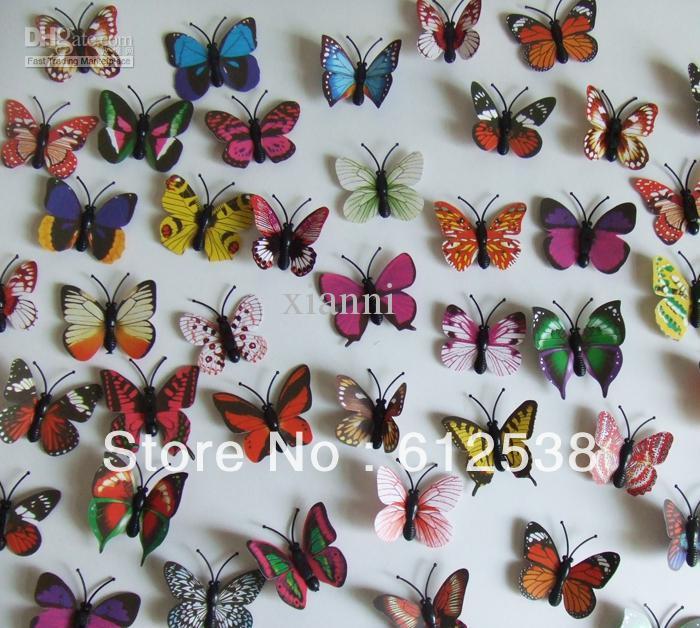 Compre venta al por mayor 3d mini mariposa artificial para for Decoracion hogar al por mayor