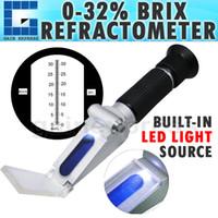 Wholesale ZGRB ATC Handheld Portable Brix Refractometer with built in LED light Sugar Juice fruits etc