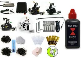 Wholesale Complete Starter tattoo gun Kit Guns tattoo machine Supply kit ml ink