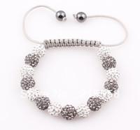 Unisex big beaded bracelets - Big Sale Shamballa Bracelet Bangle Pave mm Crystal AB Clay Ball Shamballa Bracelet Many Colours Options ZB57