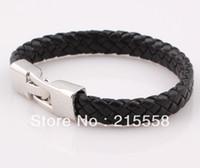 Wholesale Unisex Handmade Braided Woven PU Leather Bracelet Bangle Jewelry For Women Men ZB67