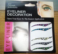Wholesale New Sexy Bling Temporary Eye Tattoo Transfer Eye Shadow D Eyeliner Sticker Pairs ZO28