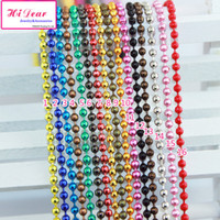Wholesale Ball Chains Necklace mm Antique Bronze Silver Sterling Colorful Alloy Metal Jewelry Links DIY Findings High Quality Free Ship by EMS