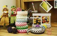 Wholesale EMS cotton DIY fashion fabric lace tape adhesive tape christmas decorative sticker creative stationery