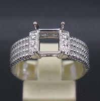 emerald cut diamonds - EMERALD CUT MM SOLID K YELLOW GOLD DIAMOND SEMI MOUNT SETTING WEDDING RING
