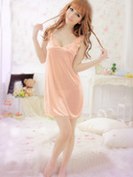 Wholesale Sexy hot Women s Lingerie Nighty Sleepwear Underwear Lady BabyDoll orange free size T7012