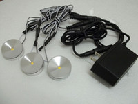 Wholesale DC v W LED Puck Cabinet Light LED spotlight Power connect wire v1a power supply