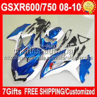 7gifts R750 For SUZUKI K8 08 09 10 HOT GSX R600 Factory blue...