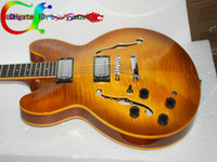 Wholesale Left Handed Guitar Custom Shop Jazz Electric Guitar in Vintage High Cheap