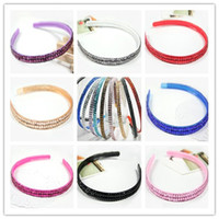 Wholesale Hot Sale Crystal Headbands Spark Headbands Multi Color Resin Double Layers Plastic Crystal Headbands Jewelry FS128