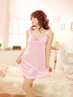 sexy nighty wear - HOT Sexy Women s Lingerie Nighty Sleepwear Underwear Lady BabyDoll pink Dress Night Wear Pajamas free size T7012