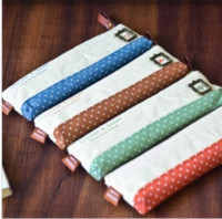 Wholesale Patchwork cotton Shuisenhuo Small Pencil Korea stationery cute little fresh creative minimalist pencil student pen curtain
