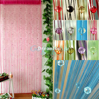 Bamboo bamboo curtain - Acrylic Beaded String Curtain Fly Insect Door Screen Divider Window Blind Drape