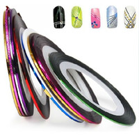 Wholesale rolls colors mixed Striping Tape Metallic Yarn Line D Nail Art Decoration Sticker
