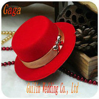 April Fool's Day hat boxes - GAGA British hat wedding gift box candy box wedding box SS28 red