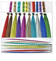 Wholesale 16inch cm Feather Hair Extentions various Colors Hair Extentions pre bond hair many color for choose