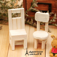 Wholesale Zakka handmade wooden furniture props home decoration vintage small solid wood side chair