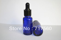 Wholesale 10x15ML OZ Cobalt Blue Glass Eye Dropper Bottles Vials Enssential Oil Bottles Sensitive Chemicals Storaging NEW amp EMPTY