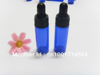 Wholesale 5ML COBALT BLUE GLASS EYE DROPPER BOTTLES VIALS ESSENTIAL OIL PERFUME LIQUID BOTTLES