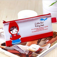 Fabric Pencil Bag China (Mainland) Freeshipping!Wholesale,New Fashion LovelyGirl Pencil Bag Case Storage Bag Pen Pocket Cosmetic Bag Bill case Coin bags Pouch Gift