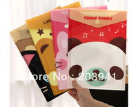 Wholesale New funny animal File folder A4 documents file bag stationery Filing Production