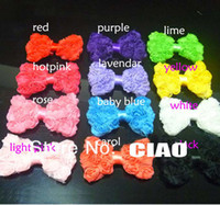 Wholesale Chiffon Rose Bows Rosette Bows Baby Hair Bow