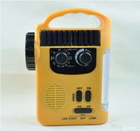 Wholesale Hand Generator solar power Hand dynamo Radio Hand charger Led torch LED flashlight