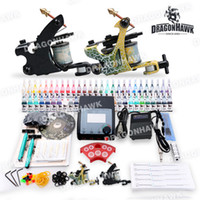 Wholesale Beginner Rotary Tattoo Kit Set color Inks Power Guns Classical D100