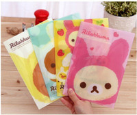 Wholesale New Cartoon rilakkuma style File folder A5 documents file bag stationery Filing Production
