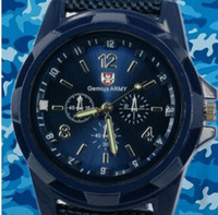 Wholesale new fashion Christmas Gift Blue Color Military Army Pilot Fabric Strap Sports Men s Swiss Military Watch