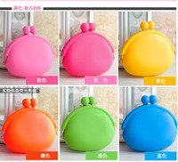 Wholesale Colourful Silicone Coin Purse Lovely Coin Bag Silicone Money Bag Pouch Puse Style Coin Wallet case