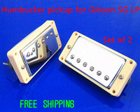 6-Band   Free Shipping Electric Guitar Chrome Plated Humbucker pickup for SG Gibson LP White