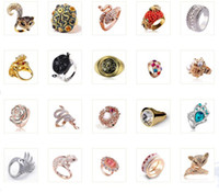 Wholesale CZ Crystal Pearl Gold Silver Ring Diamond Ring Diamond Gemstone Luxury Women Fashion Jewelry Rings Holiday Gifts