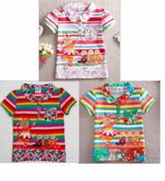 Summer cotton night shirt - Christmas Nova Kids wear Baby girls in the night garden appliqued color Tshirts cartoon t shirt cotton short sleeve trendy tops