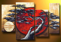 Wholesale 4pc MODERN ABSTRACT WALL ART OIL PAINTING no framed