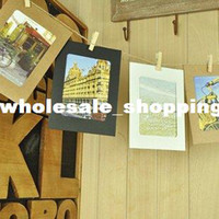 Wholesale Creative DIY hanging frame wall background of living room decoration kraft paper photo Album sets