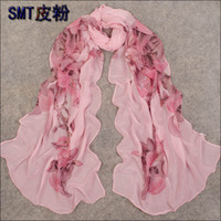 Wholesale The new spring and summer scarf shawl long section of genuine lady chiffon scarves Korean scarf multicolor selection