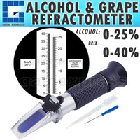 Wholesale RHW BRIXATC Portable Handheld Manual calibration Wine Grape Alcohol Design Refractometer Brix VOL with ATC